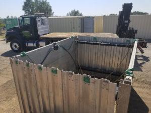 Hydraulic aluminum box